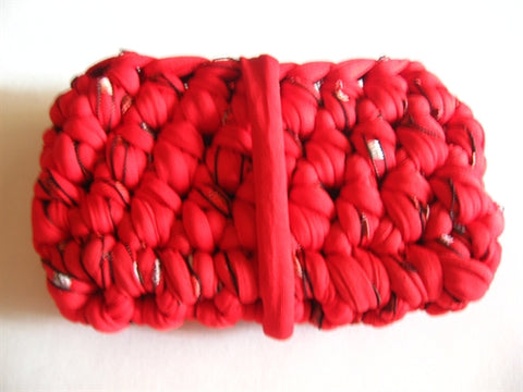 Crocheted T-Shirt Yarn Mini Coin Purse Pattern - Instant Digital Download