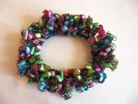 Crocheted Trellis Ladder Yarn Hair Scrunchie Pattern - Mailed to your Address