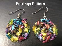 Crocheted Trellis Yarn Dangle Coin Earrings Pattern - Instant Digital Download