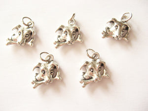 Antique Silver Dog Pendant Charms