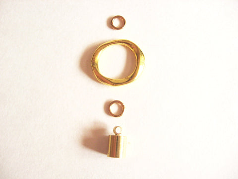 Set of Gold Tone Findings for Making 4 Long Tassel Necklaces