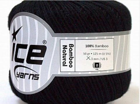 Natural Bamboo Yarn - Black