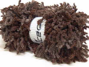 Oh La La Wool/Acrylic Scarf Yarn - Brown Shades