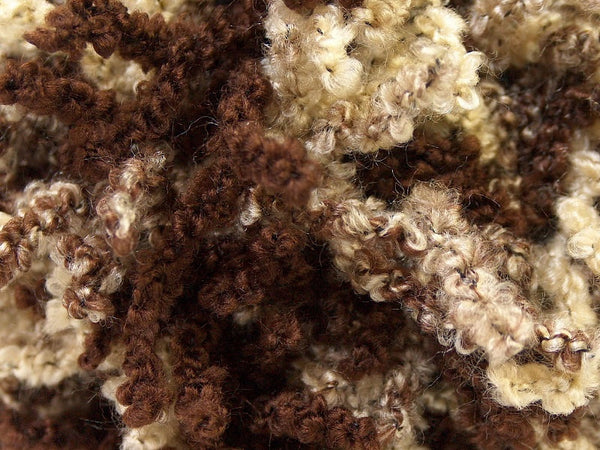 Oh La La Wool/Acrylic Scarf Yarn - Brown Yellow