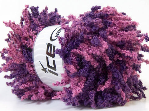 Oh La La Wool/Acrylic Scarf Yarn - Pink Dark Purple