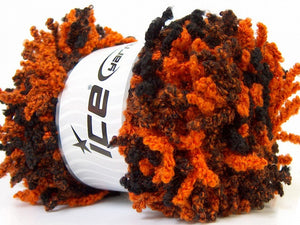 Oh La La Acrylic Scarf Yarn - Orange Black