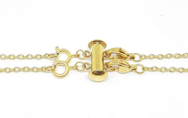 Layered Necklace Clasp - Gold Stainless Steel for 2