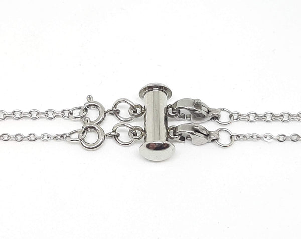 Layered Necklace Clasp - Stainless Steel for 2