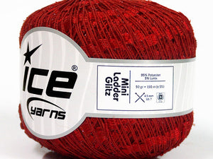 Trellis Ladder Yarn - Rock 'n' Red Sparkle (mini)