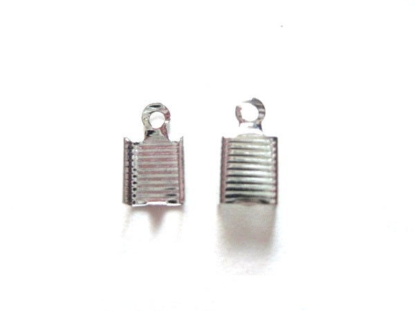 100 Stainless Steel Ribbon Crimps