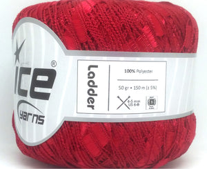 Trellis Ladder Yarn - Cherry