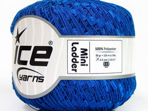Trellis Ladder Yarn - Cobalt Blue (mini)