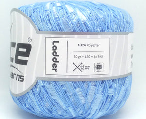 Trellis Ladder Yarn - Baby Blue