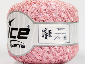 Trellis Ladder Yarn - Pinkalicious Sparkle (mini)