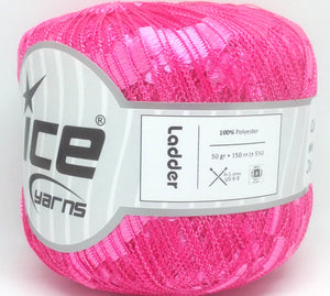 Trellis Ladder Yarn - Pink Princess