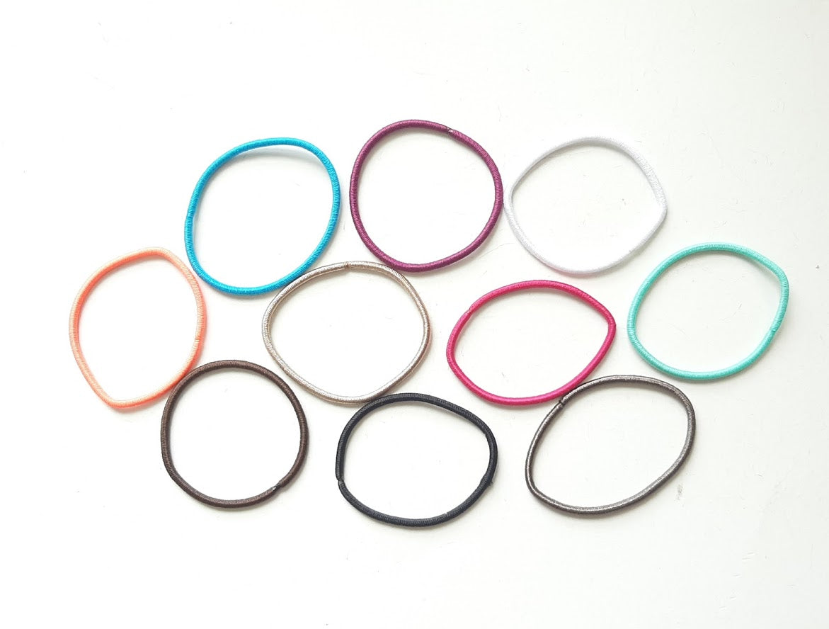 10 Stretchy Hair Elastics for Making Crocheted Hair Ties or Scrunchies