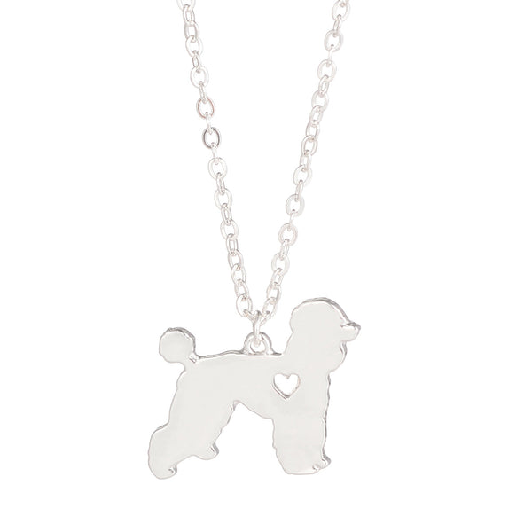 Gold or Silver Poodle Necklace Dog Breed Pendant Necklace Pendant
