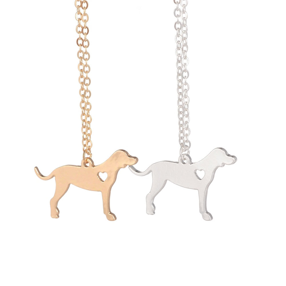 Gold or Silver Coonhound Necklace Dog Breed Pendant Necklace Pendant