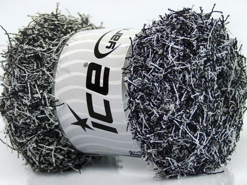 Scrubber Twist Yarn - Black White