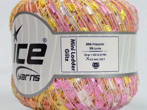Trellis Ladder Yarn - Birthday Cake Sparkle (mini)