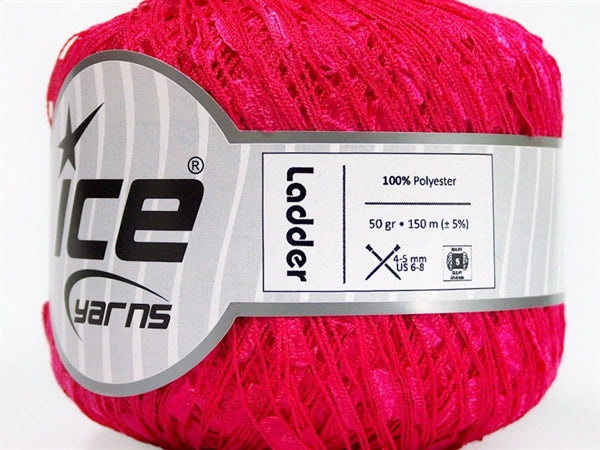 Trellis Ladder Yarn - Candy Pink