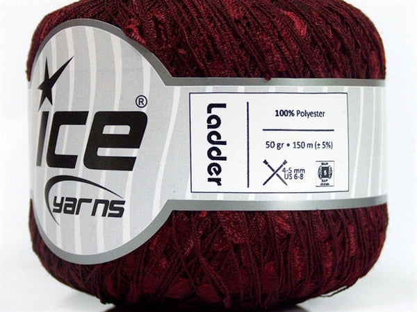 Trellis Ladder Yarn - Merlot