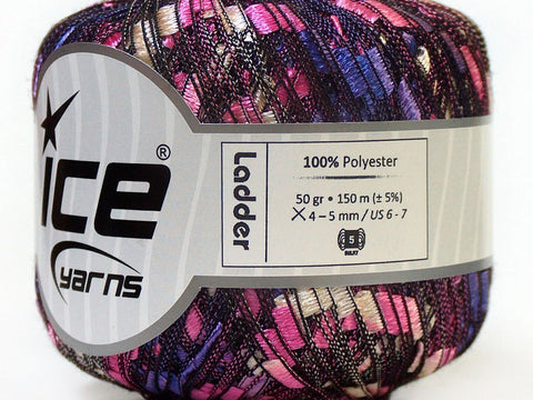 Trellis Ladder Yarn - Pink Purple