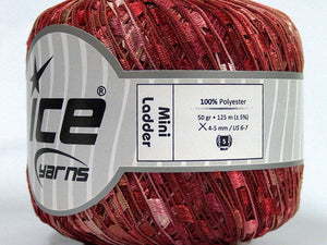 Trellis Ladder Yarn - Pomegranate (mini)