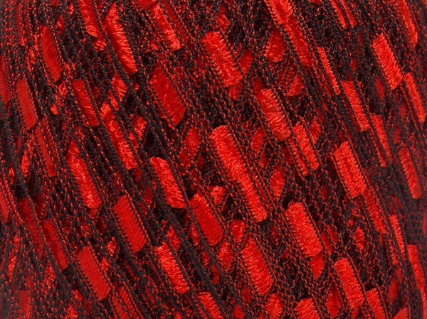 Trellis Ladder Yarn - Red Velvet