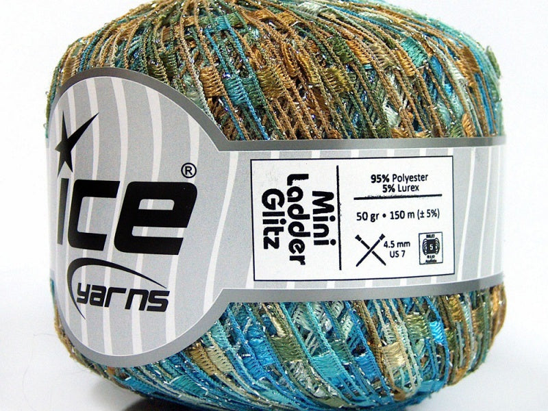 Trellis Ladder Yarn  - Sandcastle Sparkle (mini)
