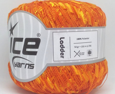Trellis Ladder Yarn - Sunny Orange