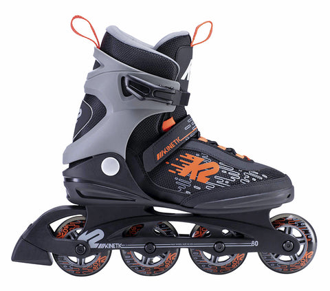 PATINES KINETIC 80 NGO/NARANJA