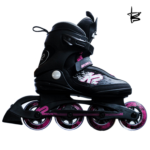 Patines K2 Kinetic 80 PRO W Negro/Rosa