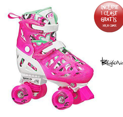 PATINES QUAD ROLLER DERBY TRAC-STAR NIÑA (AJUSTABLE)