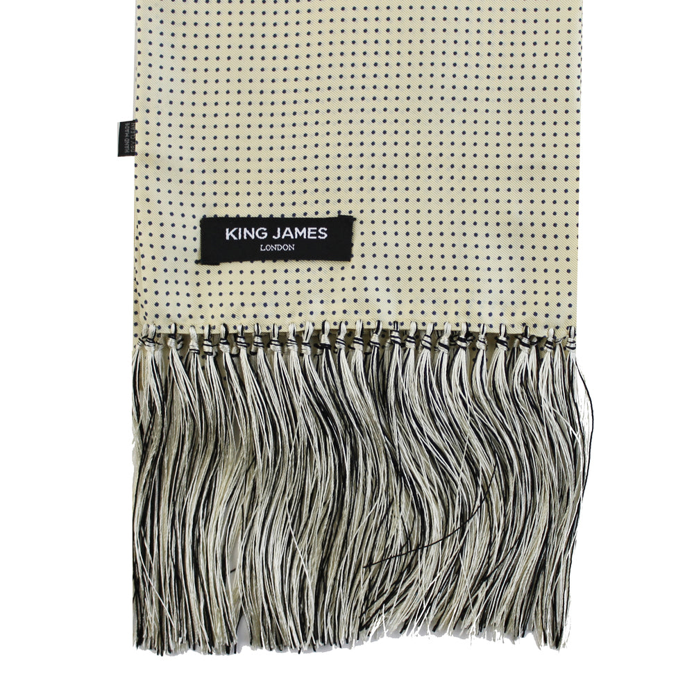 KING JAMES SIGNATURE SILK SCARF VANILLA