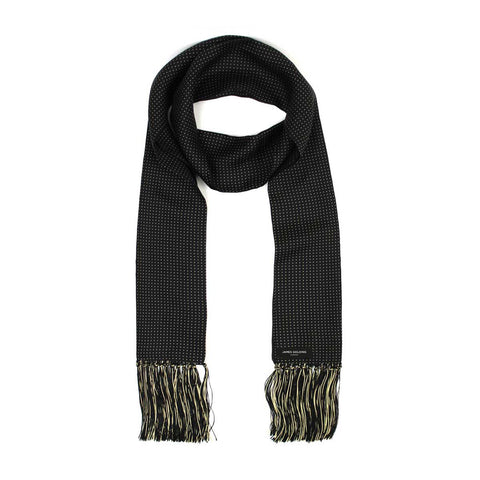 Image of REGAL BLACK SILK SCARF