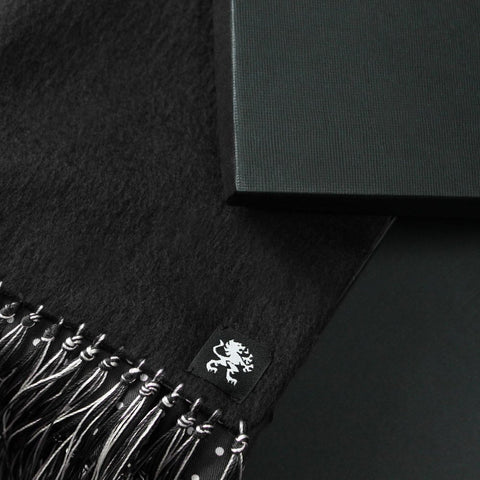 Image of KASHMIR SCARF BLACK
