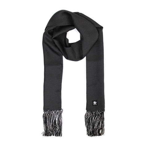 KING JAMES SIGNATURE SILK SCARF BLACK