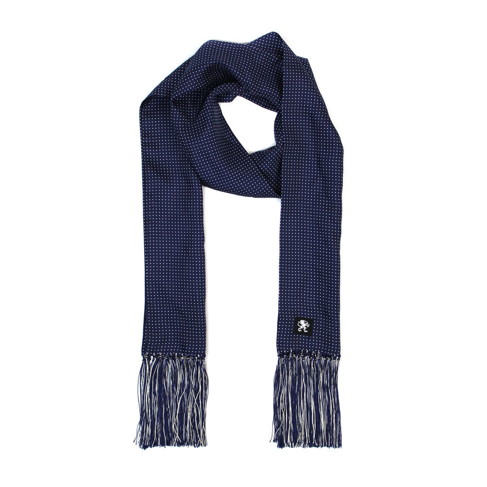 KING JAMES SIGNATURE SILK SCARF NAVY