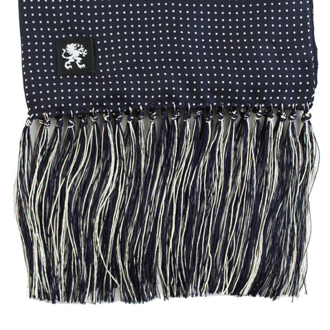 Image of KING JAMES SIGNATURE SILK SCARF NAVY