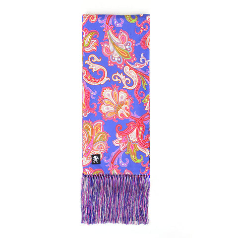 Image of PSYCHEDELIA SILK SCARF BLUE