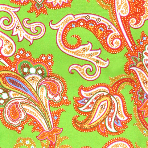Image of PSYCHEDELIA SILK SCARF GREEN