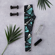 Abstract Urban Capri Leggings