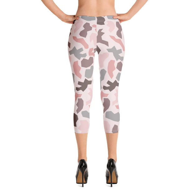Pink Army Capri Leggings