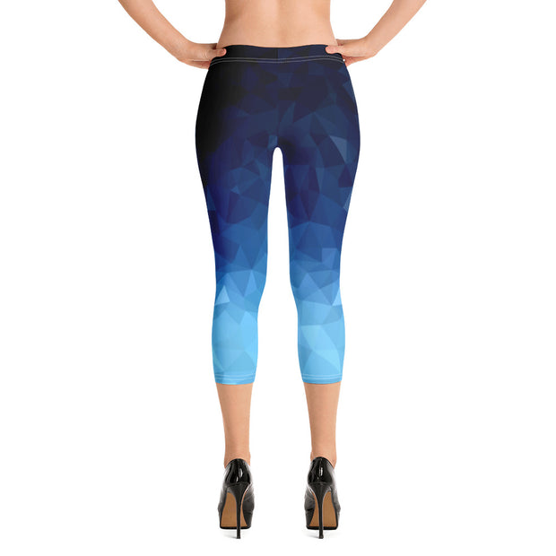 Crystal Blue Capri Leggings