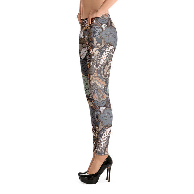 Tracery Earth Leggings