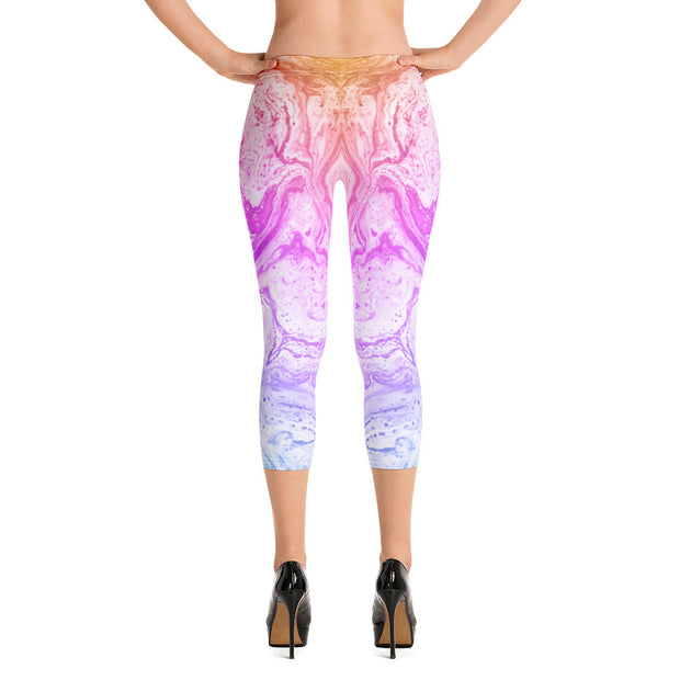Rainbow Ink Capri Leggings