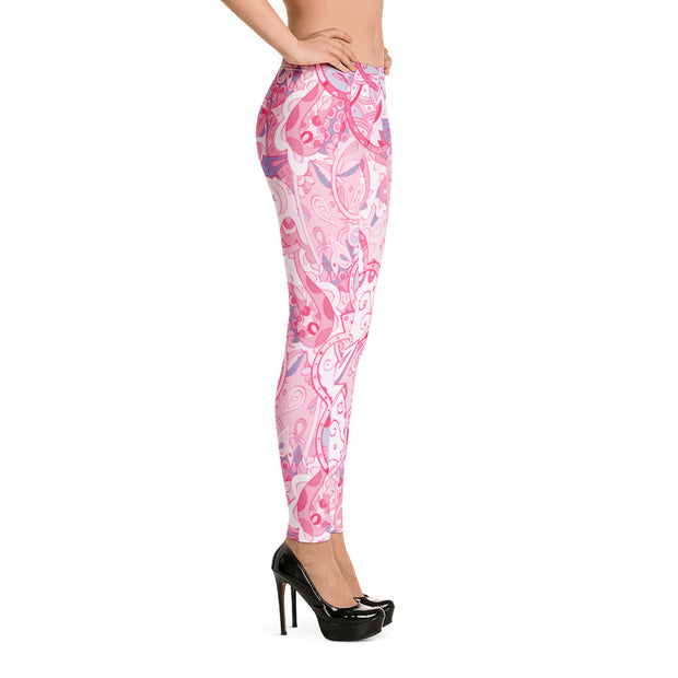 Tracery Pink Leggings