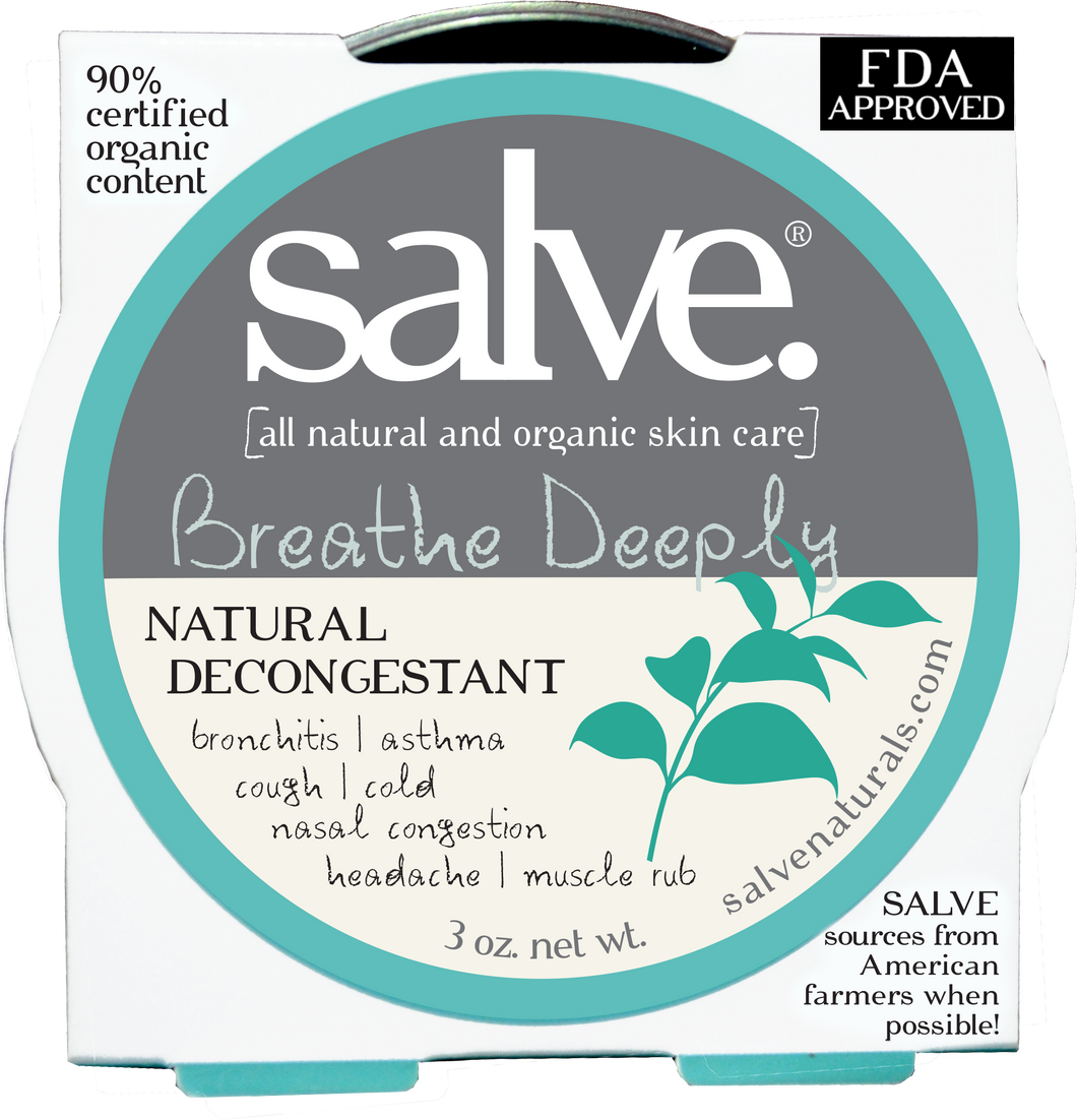 Breathe Deeply Salve (Natural Vapor Rub) FDA Listed