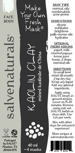 Kaolin Clay for Skin (40 ml tube)